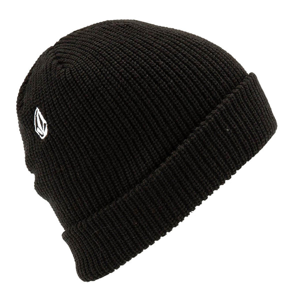 Black Full Stone Beanie // Black Bonnets Volcom