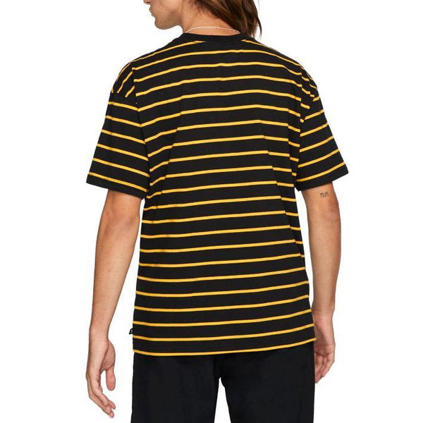 Stripe Tee // Black/University Gold