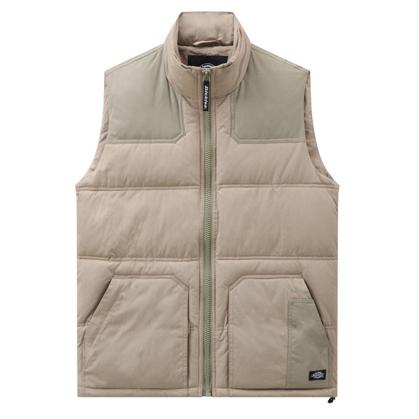 Rosy Brown Lockport Vest // Khaki Vestes Dickies