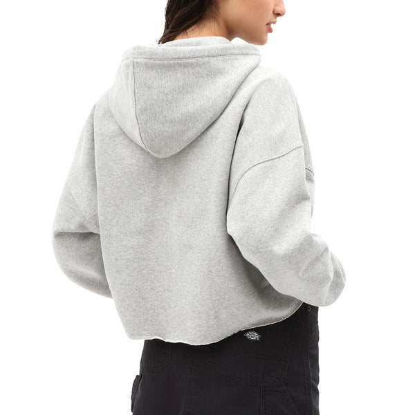 White Smoke Moss Bluff Cropped Hoodie // Grey Melange Sweats à capuche Dickies