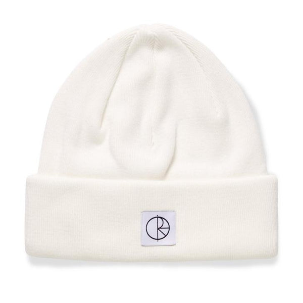 Beige Double Fold Cotton Beanie // Ivory Bonnets Polar