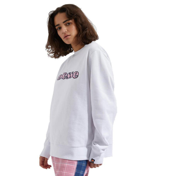Ghost White Chiodo Sweatshirt // White Sweats sans capuche Ellesse