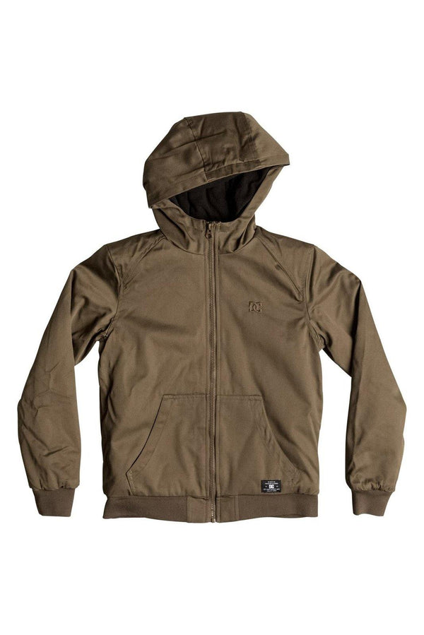 Dark Olive Green Ellis Jacket Boy // Taupe (TMS0) Vestes Dc shoes