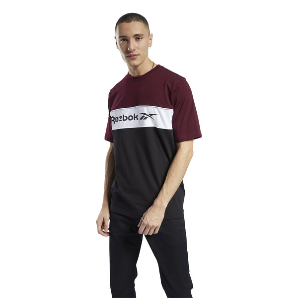 CL F Linear Tee // Maroon // FT7341