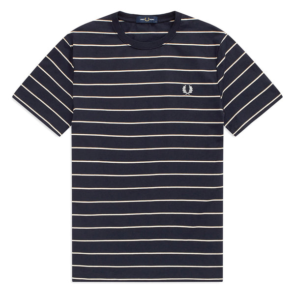 Dark Slate Gray Fine Stripe T-Shirt // Navy T-shirts Fred Perry