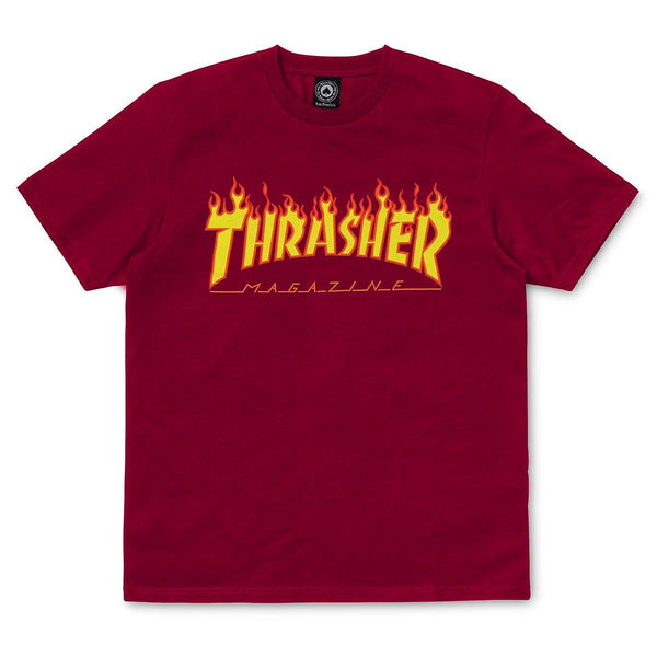 Dark Red Flame T-shirt // Cardinal Red T-shirts Thrasher