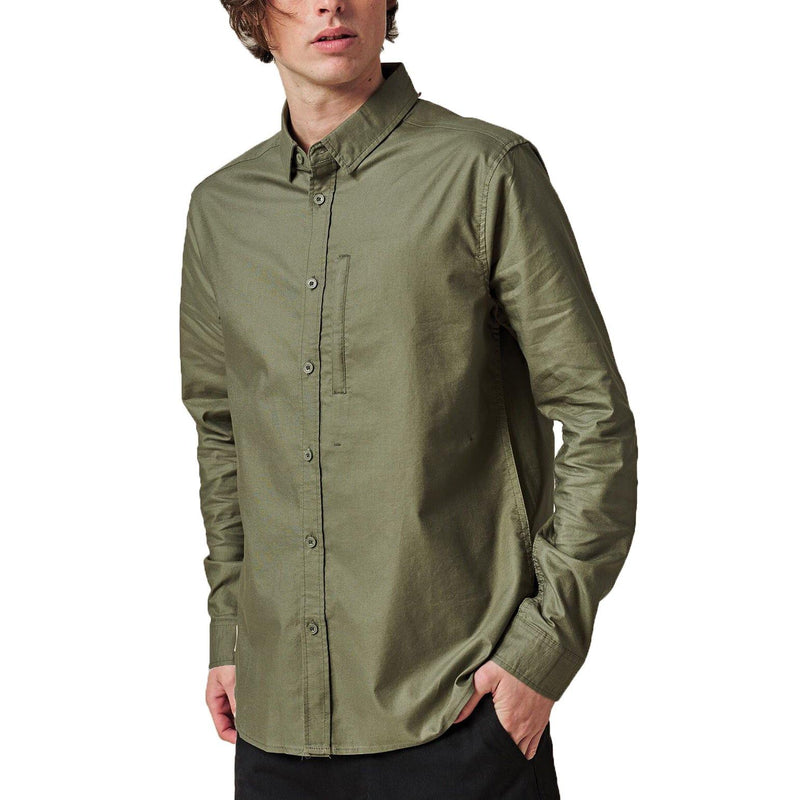 Chemises - Globe - Foundation LS Shirt // Olive - Stoemp