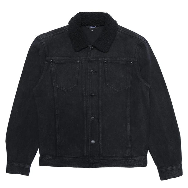 Black Fucking Fuck Denim Sherpa Jacket // Black Wash Vestes RipNDip