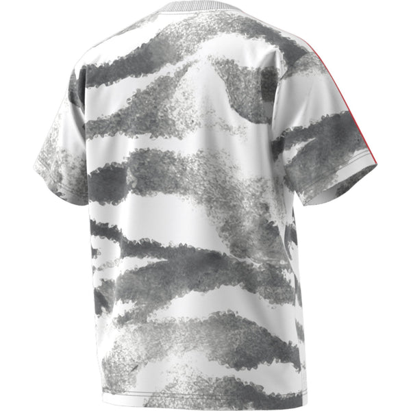 Slate Gray Zebra Allover Print SS Tee // Blanc // GD2125 T-shirts Adidas