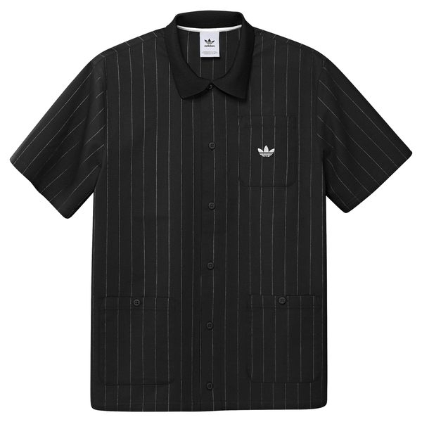 Black Shooting Shirt // Black/Off White // GD3548 Chemises Adidas Skateboarding