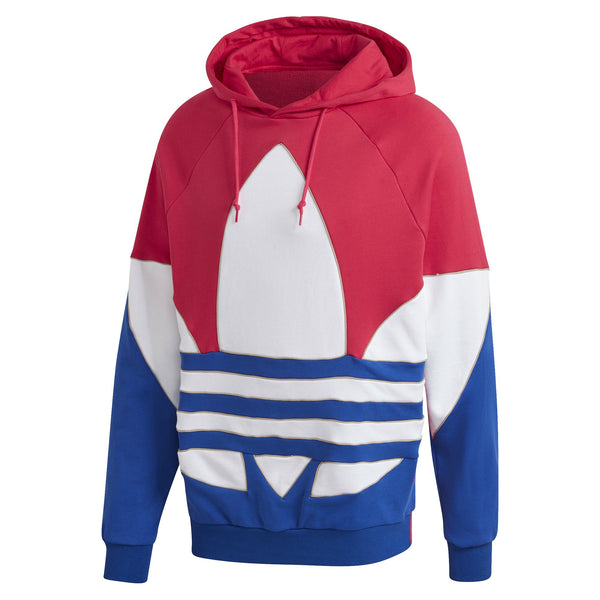 Maroon Outline Colorblock Hoodie // Rospui/Blanc // GE6226 Sweats à capuche Adidas