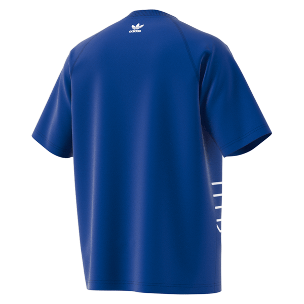 Midnight Blue Big Trefoil Outline Tee // Royal Bleu/White // GE6231 T-shirts Adidas