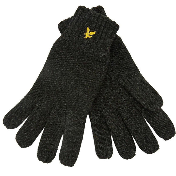 Black Mouline Glove // True Black/Jade Green Gants Lyle & Scott
