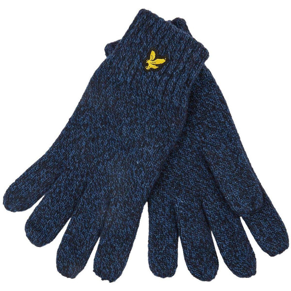 Dark Slate Gray Mouline Glove // Dark Navy/Lapis Blue Gants Lyle & Scott