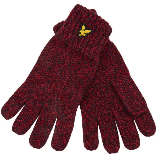 Dark Red Mouline Glove // Grenadine Red/Dark Navy Gants Lyle & Scott