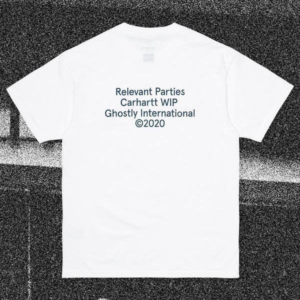 T-shirts - Carhartt WIP - SS Ghostly T-Shirt // Relevant Parties // White - Stoemp