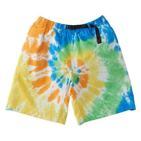 Tie Dye G Shorts // Orange Spiral