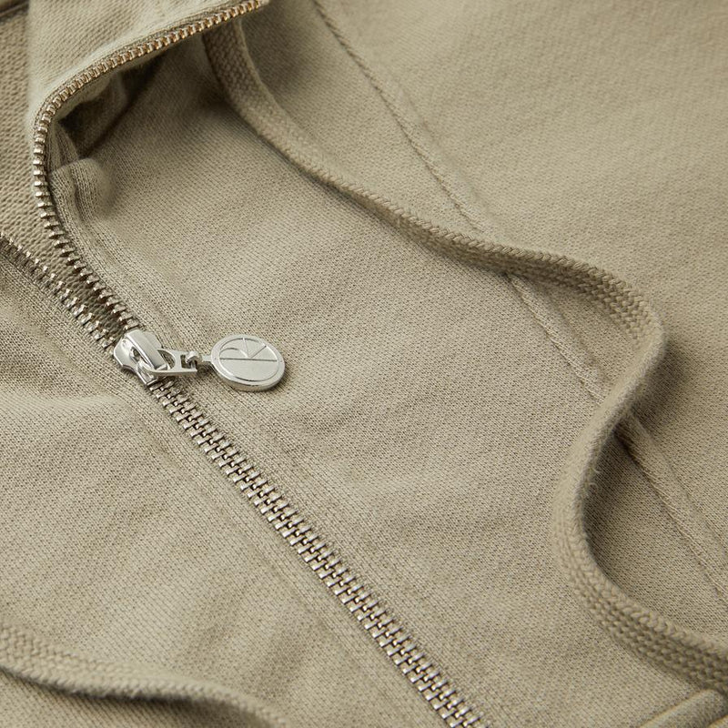 Rosy Brown Half Zip Hoodie // Warm Grey Sweats à capuche Polar