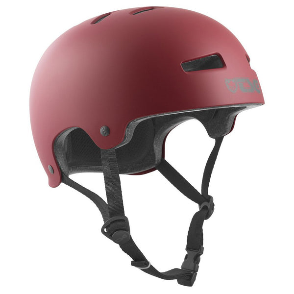 Saddle Brown Helmet Evolution // Satin Oxblood Protections TSG