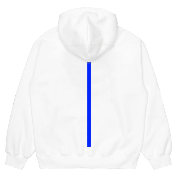 Sweat à capuche - Stoemp Clothing - Hoodie Walk The Blue Line // White - Stoemp