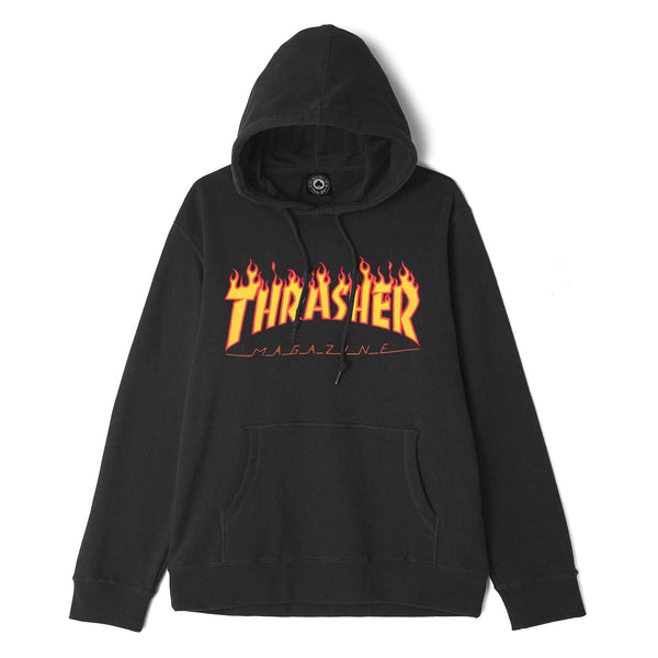 Dark Slate Gray Thrasher Flame Hoodie // Black Sweats à capuche Thrasher