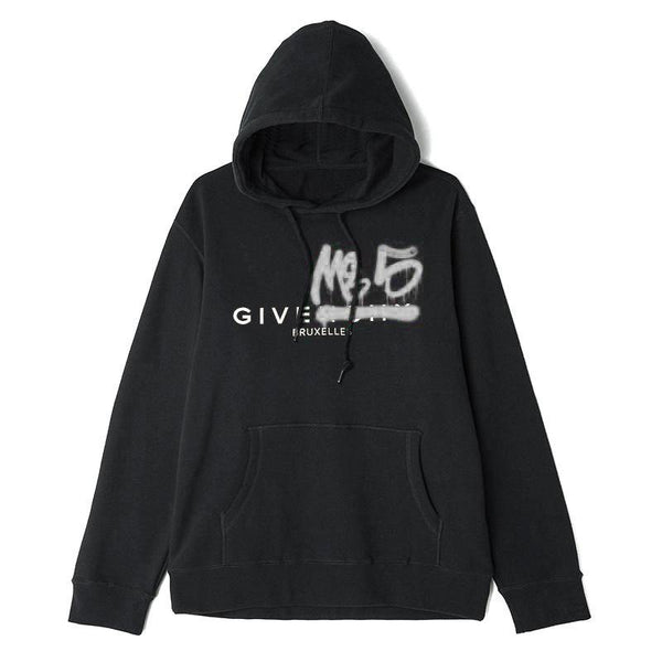 Sweats à capuche - Give Me 5 - Givenchive me 5 Hoodie // Black/Chrome - Stoemp