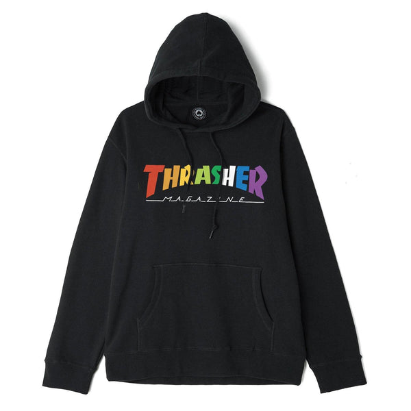 Sweats à capuche - Thrasher - Rainbow Mag Hood // Black - Stoemp