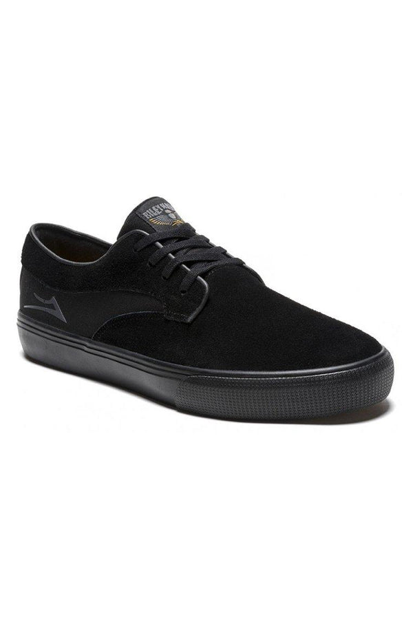 Black Riley Hawk // Black/Black Suede Sneakers Lakai
