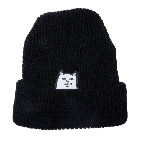 Black Lord Nermal Beanie // Black Bonnets RipNDip