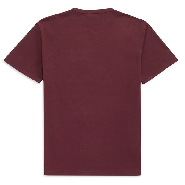 Saddle Brown Embroidered Sheild T-Shirt // Mahogany T-shirts Fred Perry