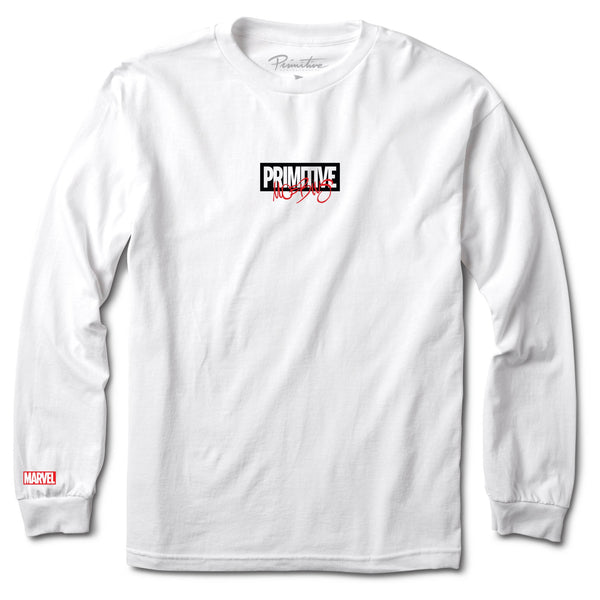 Lavender Iron Man LS Tee // White T-shirts Primitive