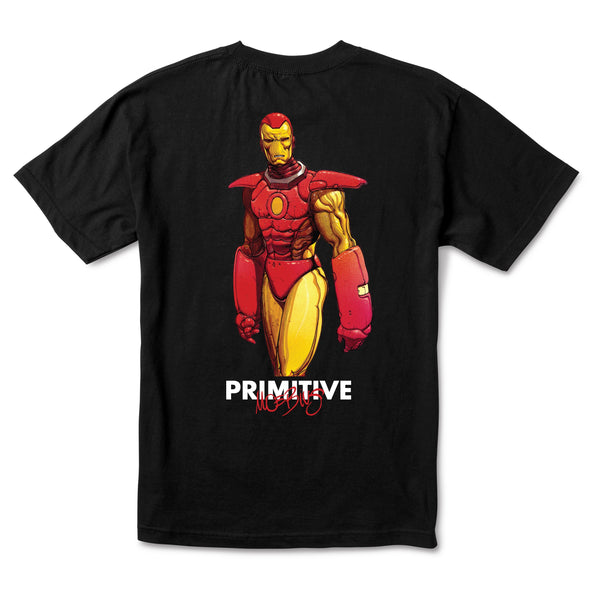 Brown Iron Man Tee // Black T-shirts Primitive