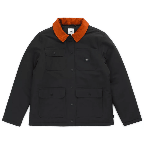 Dark Slate Gray Drill Chore Coat MTE // Black Vestes Vans