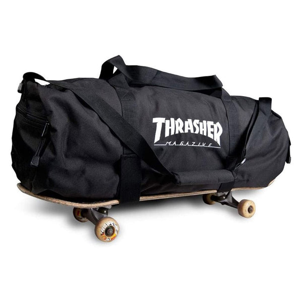 Dark Slate Gray Mag Logo Duffel Bag (With Boardstraps) // Black Sacs Thrasher