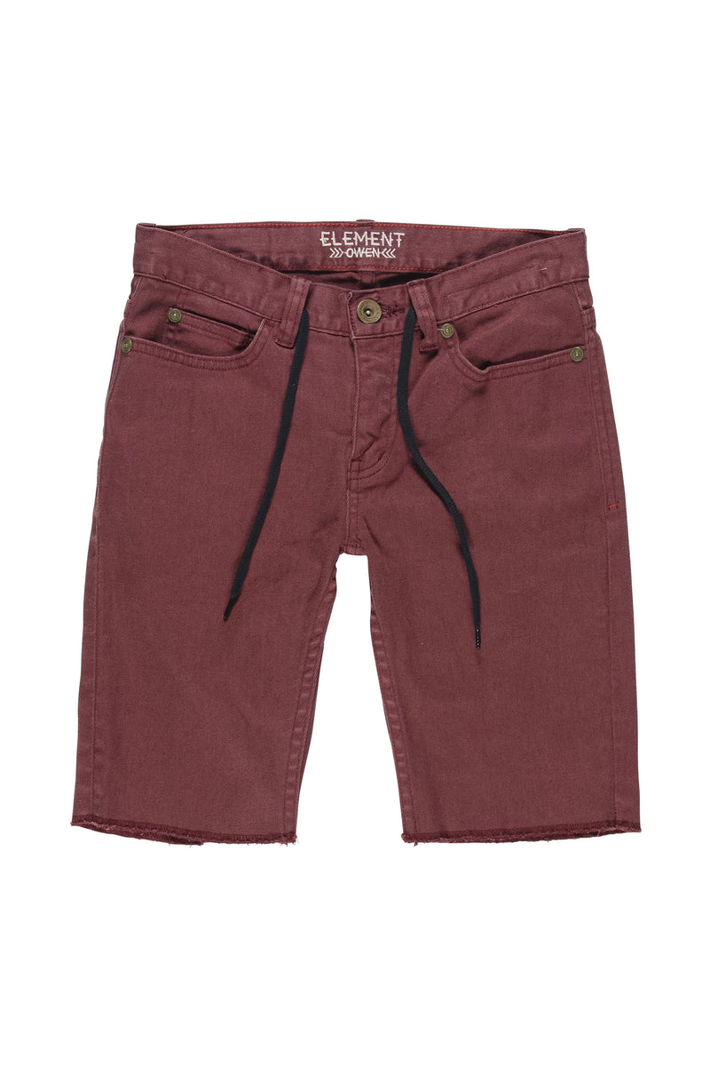 Saddle Brown Owen WK Boy // Oxblood Shorts Element