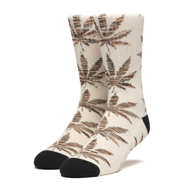 Rosy Brown Plantlife Melange Leaves Sock // Unbleached Chaussettes Huf