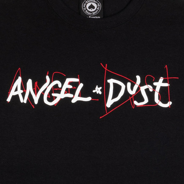 White Smoke SS Tee Angel Dust // Black T-shirts Thrasher
