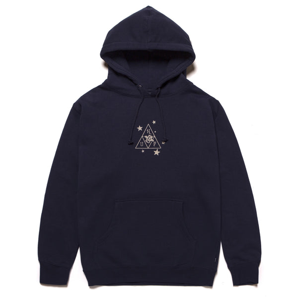 Black Huf x Smashing Pumpkins Starlight P/O Hoodie // Navy Sweats à capuche Huf