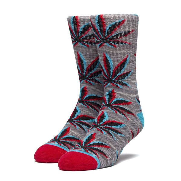 Dim Gray Static Plantlife Sock // Grey Heather Chaussettes Huf