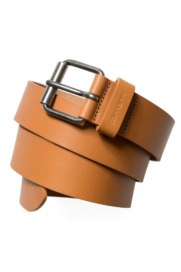 Script Belt Cow Leather // Buckskin/Silver
