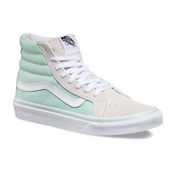 Lavender Sk8-Hi Slim // Bay/True White Sneakers Vans