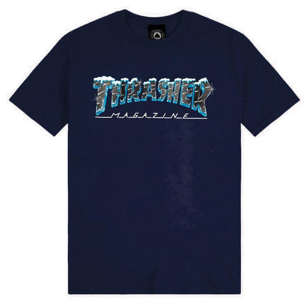 T-shirts - Thrasher - Black Ice SS // Navy - Stoemp