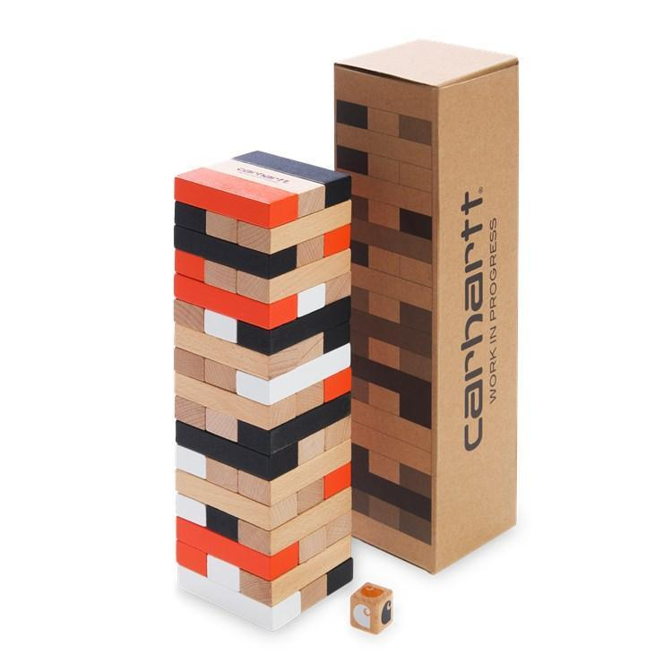 Saddle Brown Stacking Block Game Wood // Multicolor Autres Carhartt WIP