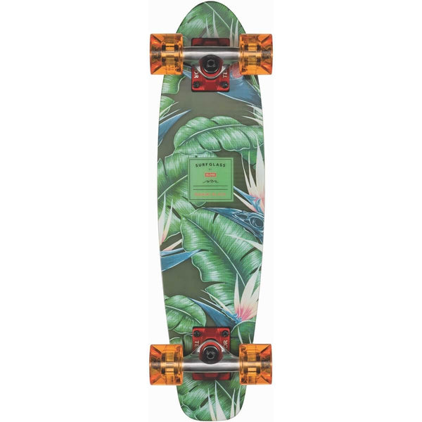 Dark Sea Green Surf Glass // Waikiki Black // 24 Inch Cruiserboards Globe