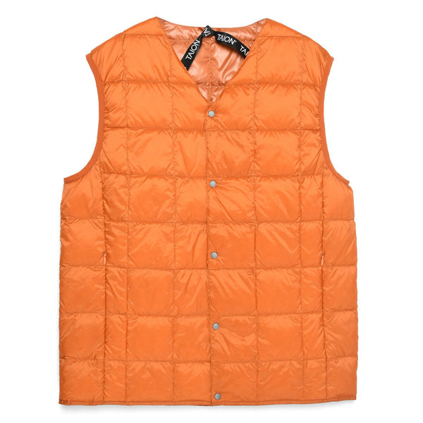 Coral V Neck Button Down Vest // D.Orange Vestes Taion