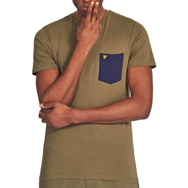 Contrast Pocket T-Shirt // Lichen