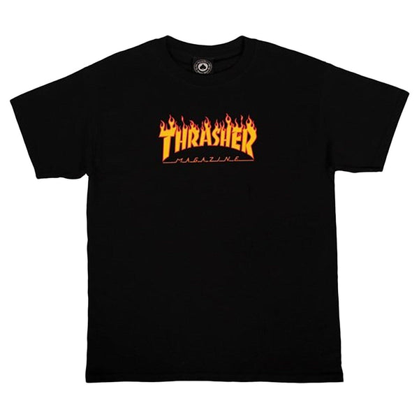 T-shirts - Thrasher - Flame SS Tee YOUTH // Black - Stoemp