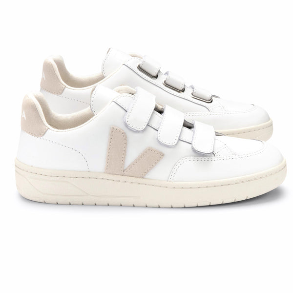 Sneakers - Veja - V-Lock Leather // Extra White/Sable - Stoemp