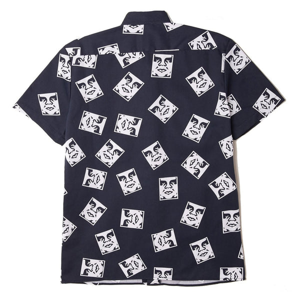 Obey X Dickies WORK Shirt // Dark Navy // Oby3