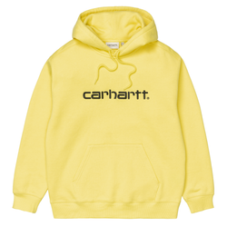Sweats à capuche - Carhartt WIP - Hooded Carhartt Sweat // Limoncello/Black - Stoemp